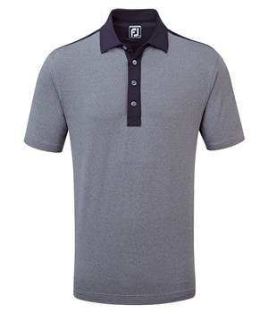 FOOTJOY HEATHER LISLE PIQUE - NAVY i gruppen Golfhandelen / Klær og sko / Golfklær herre / Pique/T-shirt hos Golfhandelen Ltd (FJ HEATHER)